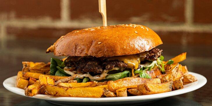 Burger do ruky: na výběr z 9 druhů - farmářský, cheeseburger, bacon i tzatziki