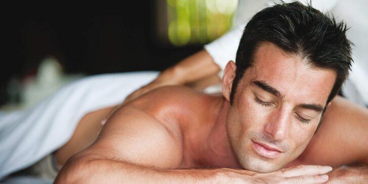 I muži potřebují relax: 70minutový balíček s masáží dle výběru pro muže