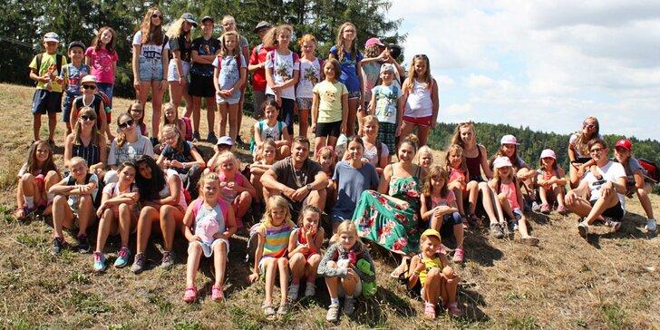 Dětské pobytové tábory na 7 dní: výtvarka, tanec, divadlo, angličtina i sport
