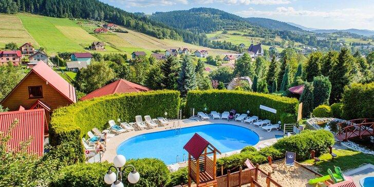 Aktivní odpočinek v polských horách: polopenze, bazén, sauna i ruská baňa