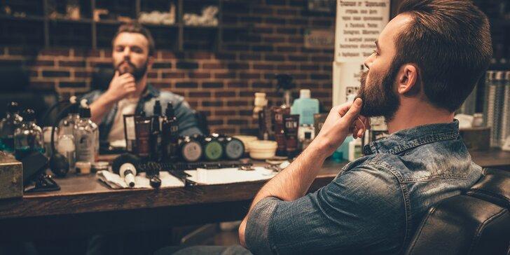 Buďte za elegána: pánský střih s mytím hlavy nebo s úpravou vousů a obočí