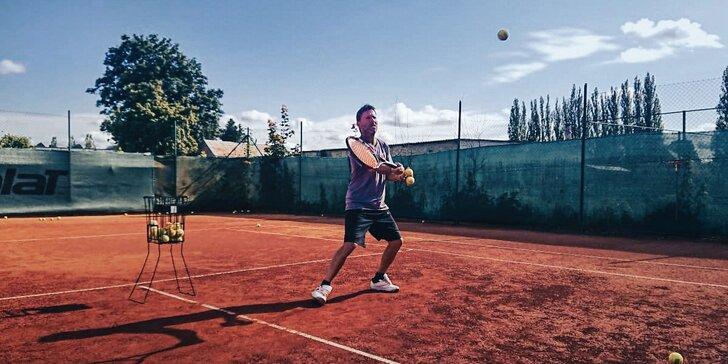 Individuální lekce tenisu s profesionálním trenérem Jiřím Horáčkem z okruhu ATP pro 1 i 2 osoby