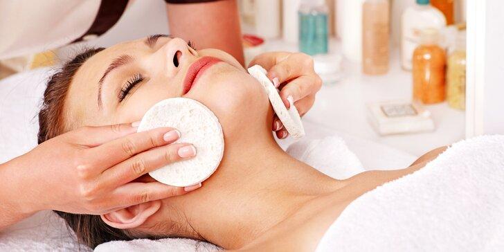 Balíček krásy pro vaši pleť: kompletní kosmetické ošetření včetně masáže obličeje