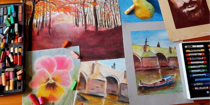 Balíček dvou online kurzů: Kreslení pravou mozkovou hemisférou a Pastelem snadno a krásně
