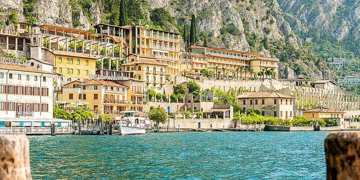 Dovolená na břehu Gardského jezera: 4* hotel s polopenzí a střešním bazénem