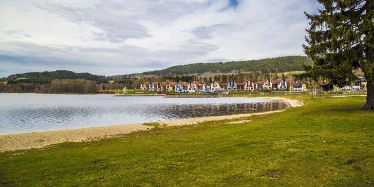 3–5 dnů na Lipně: pobyt v penzionu se snídaní, bazénem a cyklovýlety