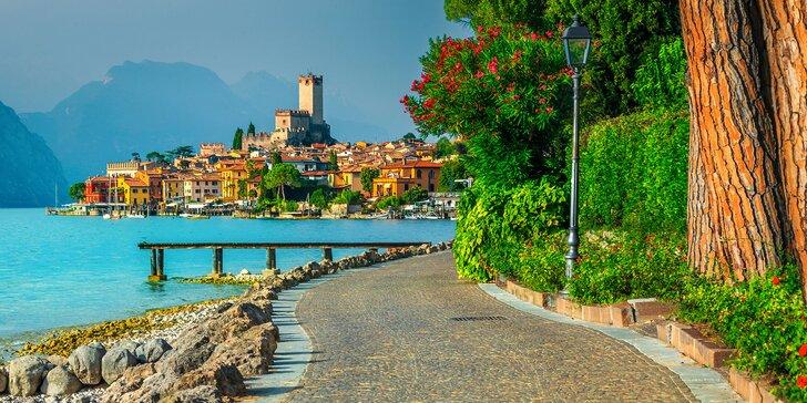 Třídenní výlet autobusem k italskému jezeru Lago di Garda vč. koupání a prohlídky památek