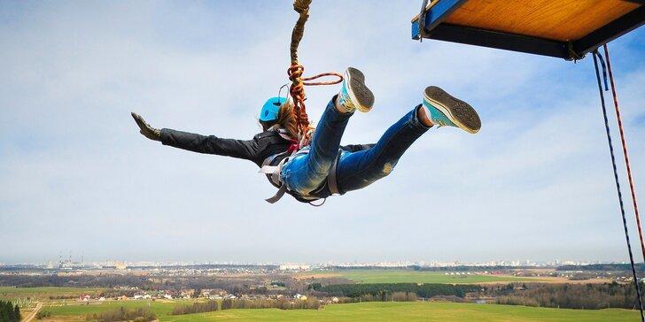 Zábava pro odvážné: extrémní bungee jumping z jeřábu z 50 či 110 metrů