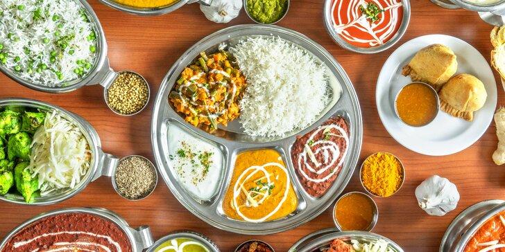 Vychutnejte si indické menu pro 2 osoby: vegetariánské, kuřecí a jehněčí