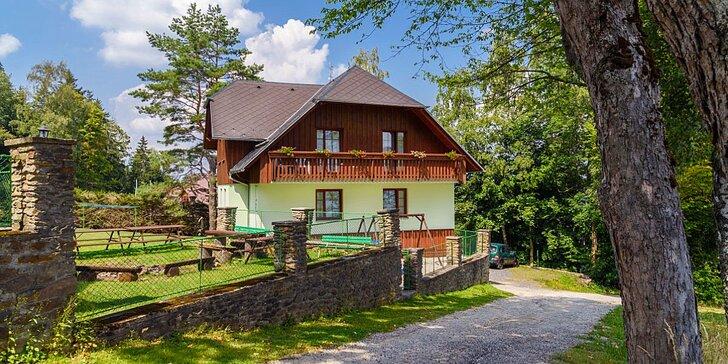 Pobyt na Šumavě: vybavené apartmány, až 3 děti do 14,9 let zdarma