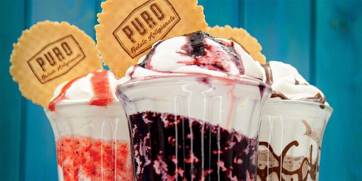Milkshake podle výběru v Puro Gelato pro 1 i 2 osoby: čokoláda, borůvka, jahoda či slaný karamel
