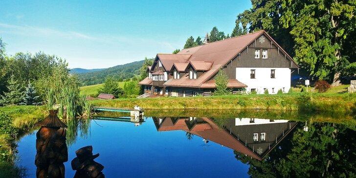 Dovolená na chatě v Krkonoších: polopenze, bazén a až 2 děti zdarma