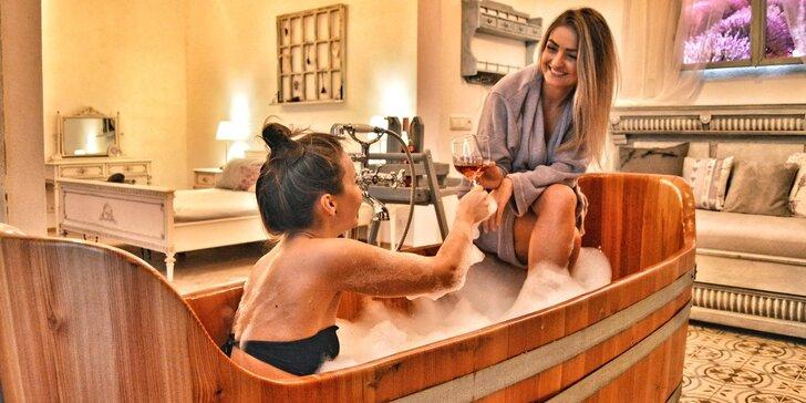Privátní levandulová lázeň, finská sauna i občerstvení pro 2 osoby