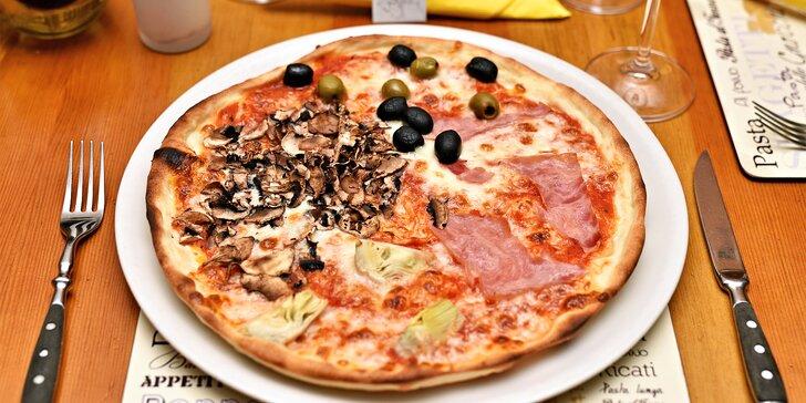 Itálie na Staroměstském náměstí: 1 nebo 2 libovolné pizzy, na výběr 14 druhů