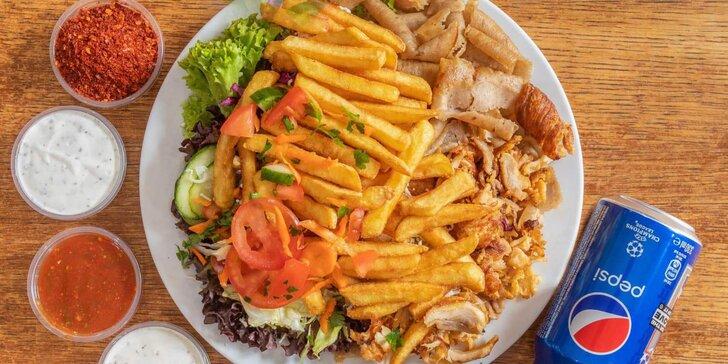 Vezměte si s sebou pořádné jídlo: döner kebab, dürüm kebab i kebab talíř