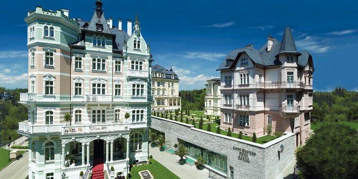 Pobyt v luxusním hotelu v Karlových Varech: neomezený wellness a polopenze