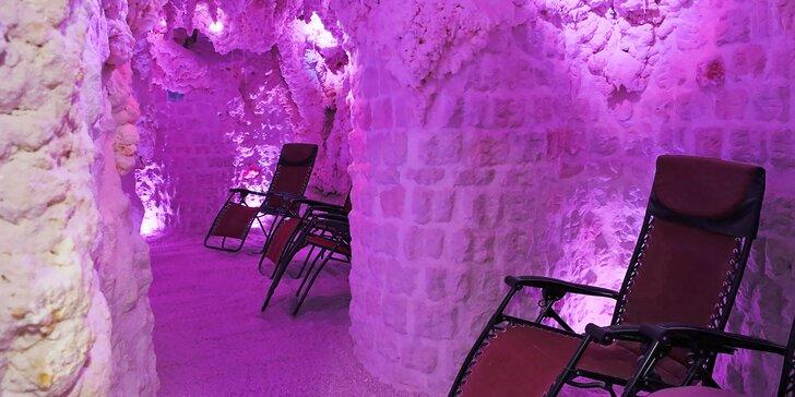 Dopřejte si relax a pečujte i o své zdraví: 70 min. v solno-jodové jeskyni pro 1 i 2 osoby