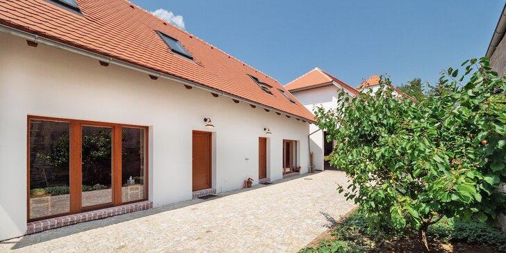 Pobyt ve vinařské uličce v srdci jižní Moravy pro 2–6 osob, ubytování v nově zrekonstruovaném apartmánu