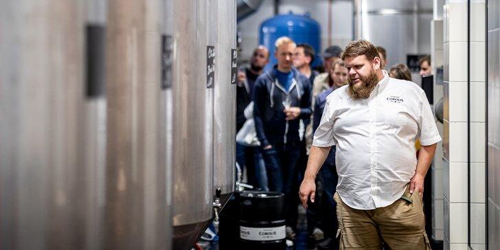 Prohlídka pivovaru Cobolis Ládví pro 2 osoby: ochutnávka piv, pivo domů i večeře v restauraci
