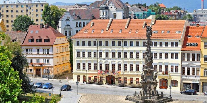 Pobyt se snídaní v Teplicích: elegantní 4* hotel v samém centru lázeňského města