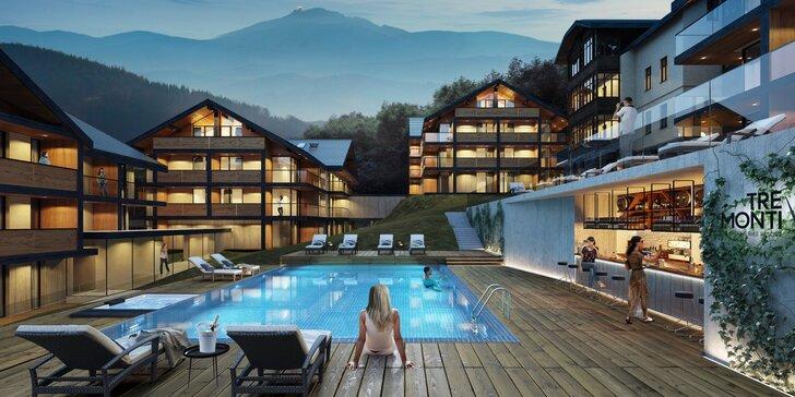 Polské Krkonoše: nový resort v alpském stylu, neomezený wellness, půjčovna kol, snídaně či polopenze