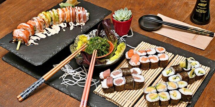 Sushi z asijské restaurace na Vinohradech v hodnotě 500 nebo 1000 Kč