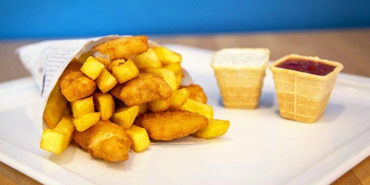 Dobrota z moře: fish & chips z restaurace Nordsee pro 1 i 2 osoby