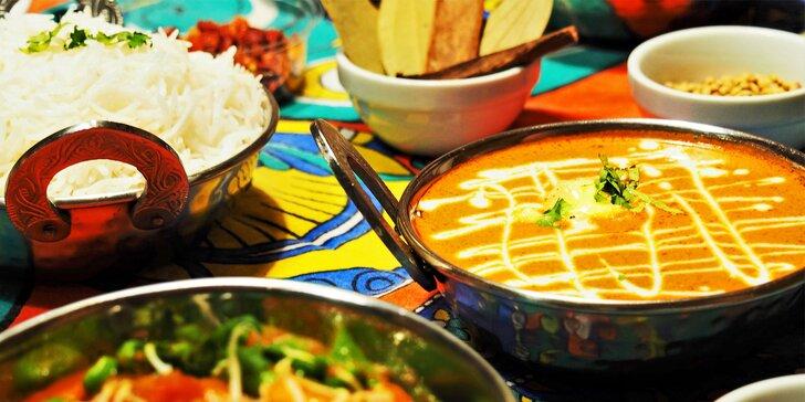 Dárkový poukaz na libovolné jídlo v indických restauracích Namaskar