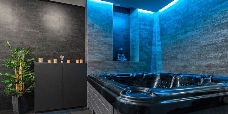 Privátní wellness s vířivkou a saunou pro dva: 120 minut relaxace i lahev sektu