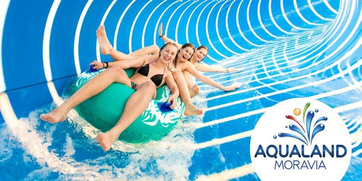 Podzim v Aqualandu Moravia: celodenní vstupy do bazénů i relaxace ve wellness a sirná termální lázeň