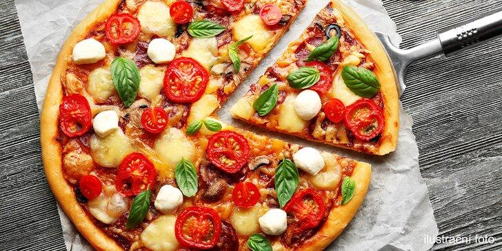 Pizza v Bohnicích podle výběru: 40 cm nebo 2 pizzy průměr 32 cm