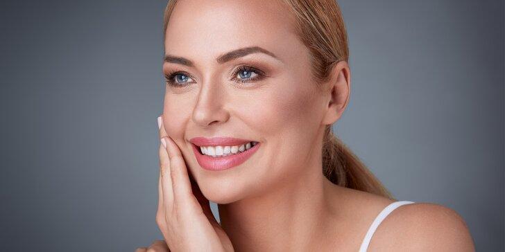 Omlazení obličeje, krku a dekoltu mezoterapií s 2–8% kys. hyaluronovou nebo liftingovým sérem