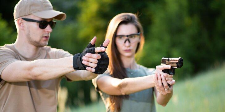 Střelecké balíčky pro páry nebo 4 osoby: pistole, revolvery, pušky i brokovnice