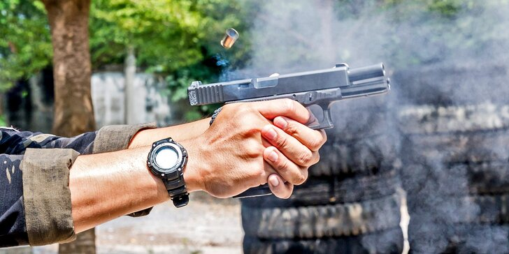 Střelecké balíčky pro jednotlivce, páry i rodiny: až 25 zbraní, využijete na 18 střelnicích