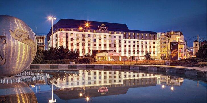 Poznejte krásy Bratislavy: 4* hotel Crowne Plaza v centru města, snídaně
