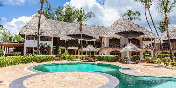 Pohoda na exotickém Zanzibaru: 7–14 nocí ve 4* resortu s tropickou zahradou a česky hovořícím delegátem