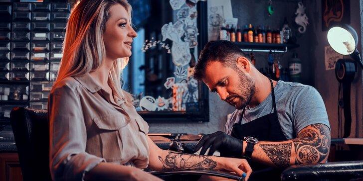 Nové tetování s motivem dle vlastního výběru nebo úprava stávajícího