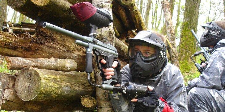 Paintball pro jednoho střelce i armádu až 30 vojáků: 100–2000 kuliček, zapůjčení zbraně a výstroje