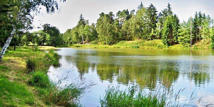 Až třídenní povolenka na rybaření na soukromém rybníku na Vysočině