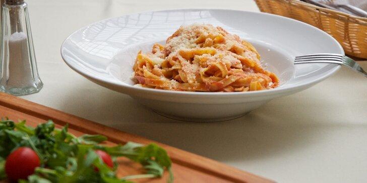 Oběd pro vás: těstoviny, rizoto nebo hovězí carpaccio podle vašeho výběru