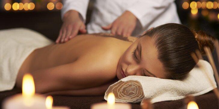 Masáž partie dle výběru s aroma oleji, teplými ručníky a nahřátím biolampou