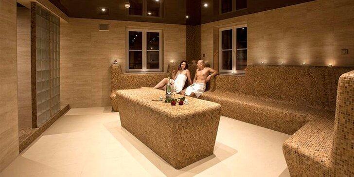 Vstup do saunového světa wellness hotelu Millenium a tatarák pro 1 nebo 2 osoby