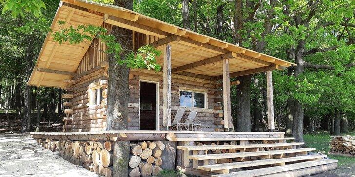 Zážitkové ubytování v přírodě: srub až pro 6, pozorování zvěře i rybolov