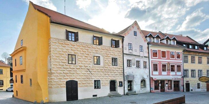 Pobyt se snídaní v historickém jádru Českého Krumlova: budova ze 16. století, na zámek 5 minut