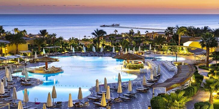 All inclusive dovolená v Egyptě: 5* plážový resort s bazény, včetně letenky