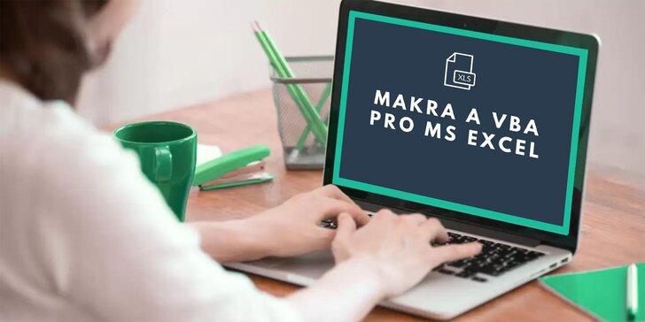 Roční online kurz Excelu: Makra a VBA či set 3 kurzů, certifikát o absolvování