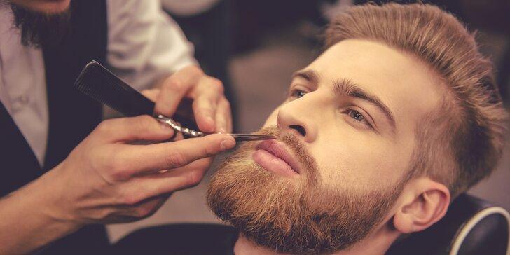 Barber péče pro pány: precizní střih, úprava vousů i obočí a masáž