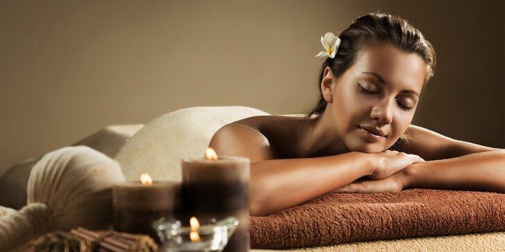 Celkem 275 min. královské wellness péče: masáže, zábaly a obklady i koupel