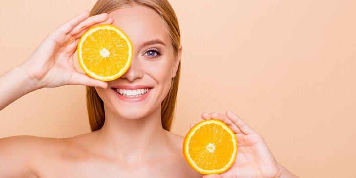 Osvěžující pomerančovo-meruňkové ošetření obličeje zaměřené na hydrataci pleti