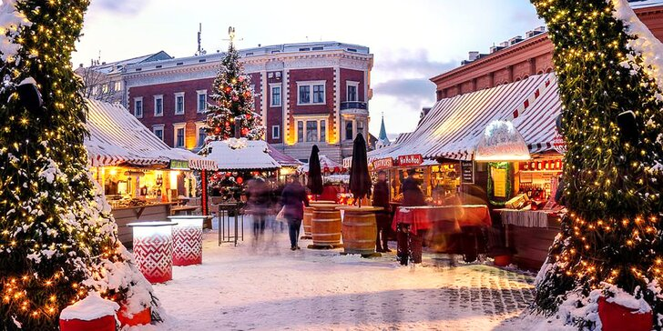 Nejlepší vánoční trhy v Evropě roku 2019: adventní zájezd do Pobaltí, doprava busem i hotel a snídaně